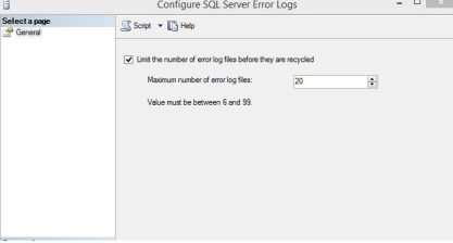 Configure SQL Error Logs
